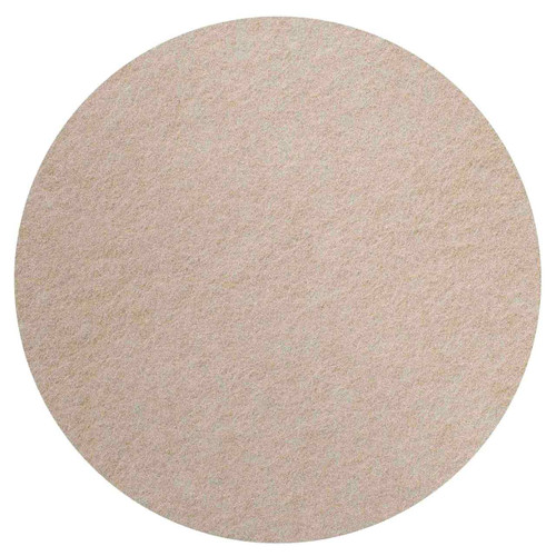 """Wall-Mounted SoundSorb Acoustic 12"""" Flat Circle Beige High Density Polyester"""