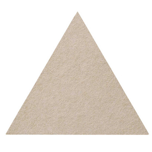 "Wall-Mounted SoundSorb Acoustic Panels 12"" Flat Triangle Beige High Density Polyester"