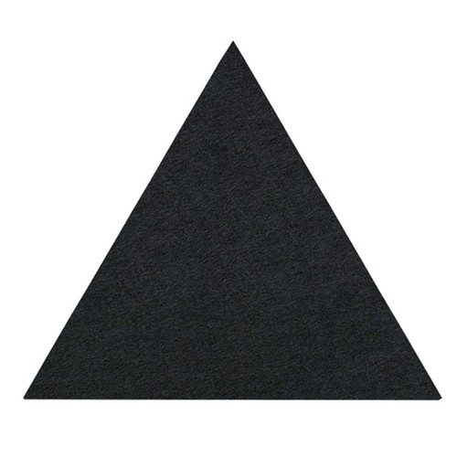 "Wall-Mounted SoundSorb Acoustic Panels 12"" Flat Triangle Black High Density Polyester"