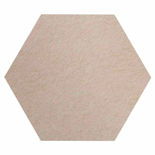 "Wall-Mounted SoundSorb Acoustic Panels 12"" Hexagon Flat Beige High Density Polyester"