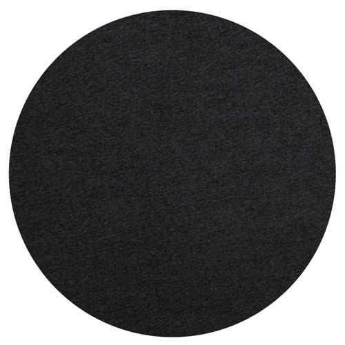 """Wall-Mounted SoundSorb Acoustic 24"""" Flat Circle Black High Density Polyester"""