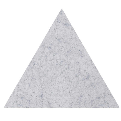 "Wall-Mounted SoundSorb Acoustic Panels 24"" Flat Triangle Marble Gray High Density Polyester"