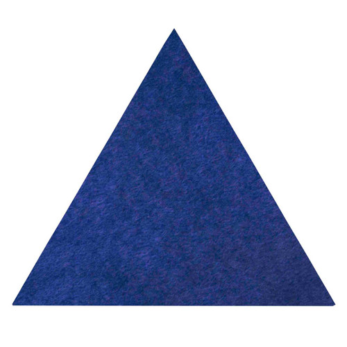 """Wall-Mounted SoundSorb Acoustic Panels 24"""" Flat Triangle Blue High Density Polyester"""
