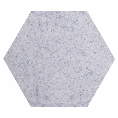 "Wall-Mounted SoundSorb Acoustic Panels 24"" Hexagon Flat Marble Gray High Density Polyester"
