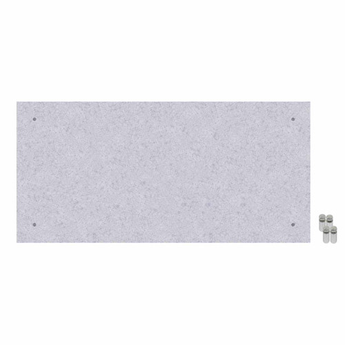 Wall-Mounted Standoff SoundSorb Acoustic Panels 2' x 4' Marble Gray High Density Polyester