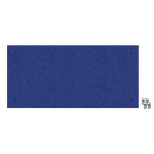 Wall-Mounted Standoff SoundSorb Acoustic Panels 2' x 4' Blue High Density Polyester