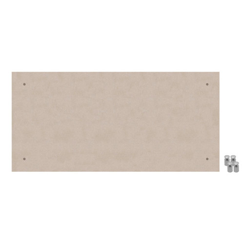 Wall-Mounted Standoff SoundSorb Acoustic Panels 2' x 4' Beige High Density Polyester