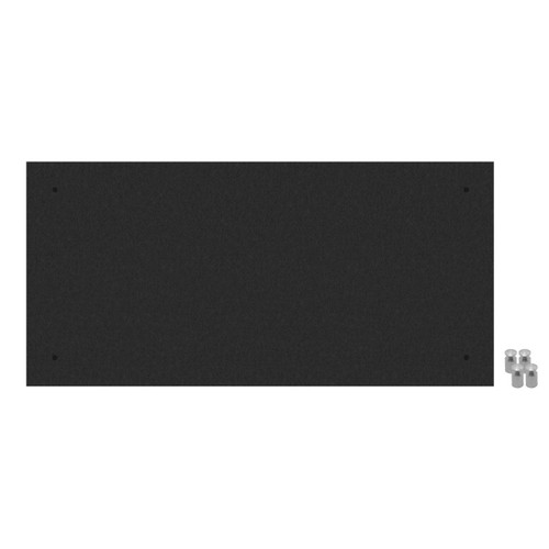 Wall-Mounted Standoff SoundSorb Acoustic Panels 2' x 4' Black High Density Polyester