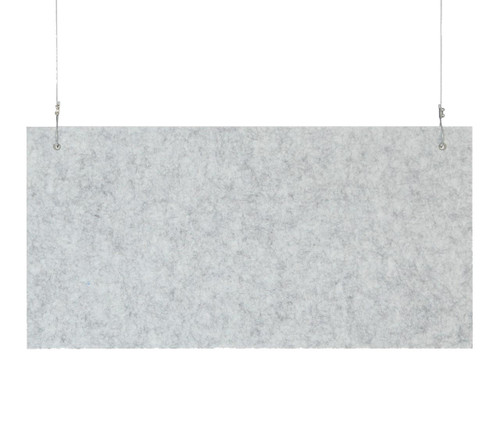 """SoundSorb Hanging Acoustic Baffles 24"""" x 12"""" Marble Gray High Density Polyester"""