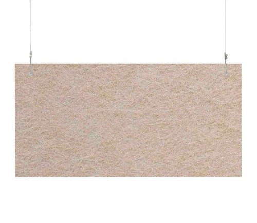 "SoundSorb Hanging Acoustic Baffles 24"" x 12"" Beige High Density Polyester"