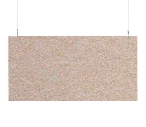 """SoundSorb Hanging Acoustic Baffles 24"""" x 12"""" Beige High Density Polyester"""