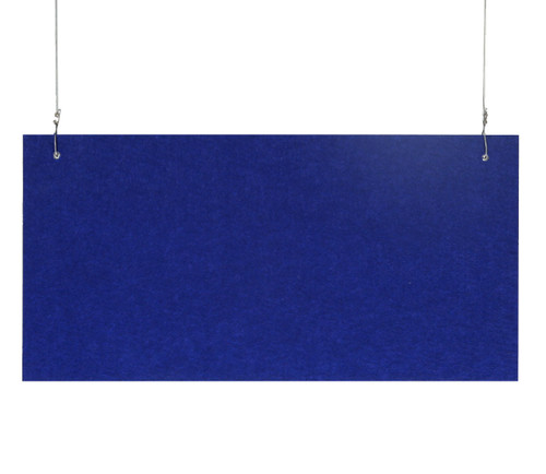 "SoundSorb Hanging Acoustic Baffles 24"" x 12"" Blue High Density Polyester"