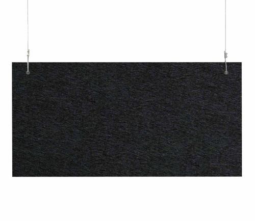 """SoundSorb Hanging Acoustic Baffles 24"""" x 12"""" Black High Density Polyester"""