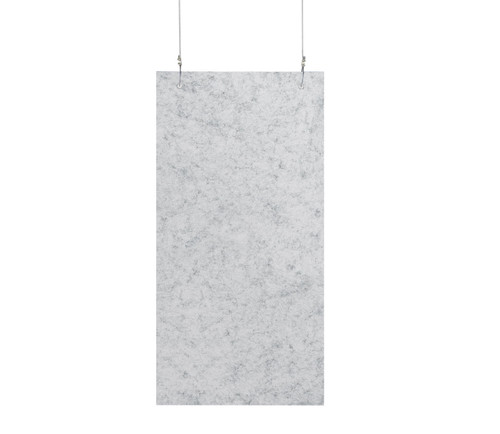 """SoundSorb Hanging Acoustic Baffles 12"""" x 24"""" Marble Gray High Density Polyester"""