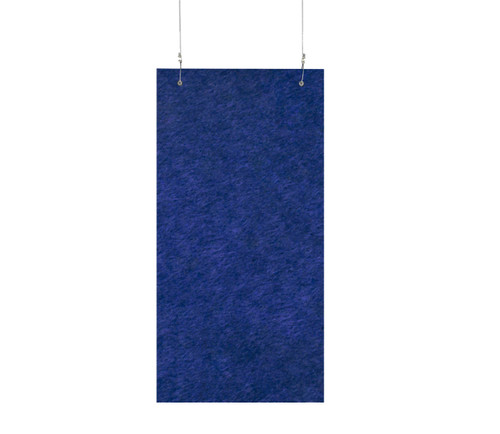 "SoundSorb Hanging Acoustic Baffles 12"" x 24"" Blue High Density Polyester"
