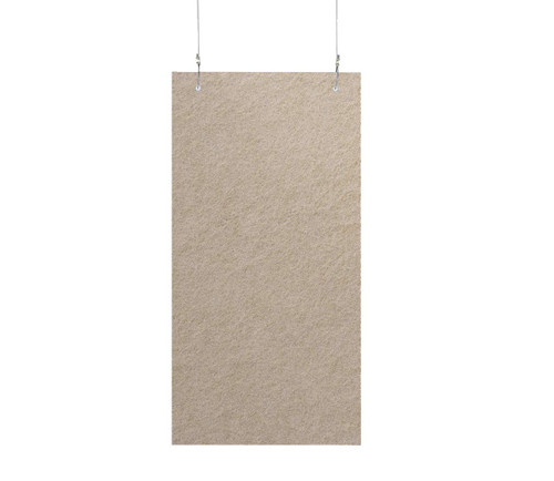 "SoundSorb Hanging Acoustic Baffles 12"" x 24"" Beige High Density Polyester"