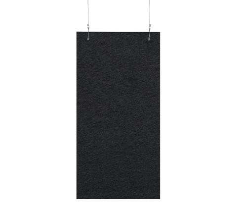 """SoundSorb Hanging Acoustic Baffles 12"""" x 24"""" Black High Density Polyester"""
