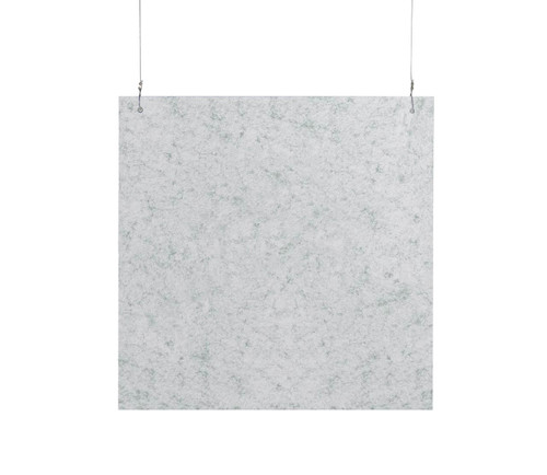"""SoundSorb Hanging Acoustic Baffles 24"""" x 24"""" Marble Gray High Density Polyester"""