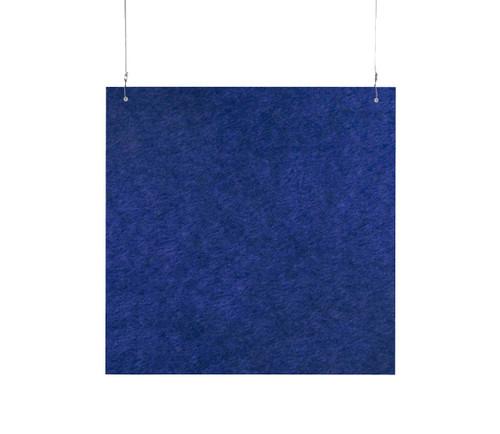 """SoundSorb Hanging Acoustic Baffles 24"""" x 24"""" Blue High Density Polyester"""
