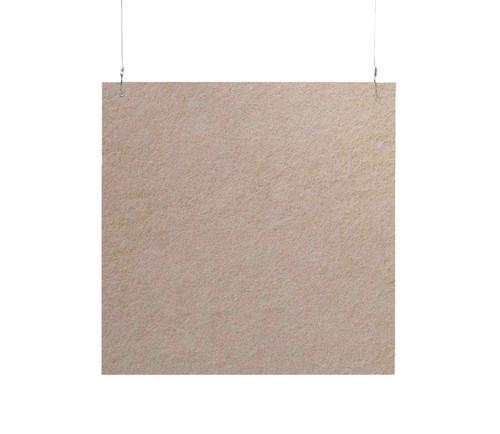 """SoundSorb Hanging Acoustic Baffles 24"""" x 24"""" Beige High Density Polyester"""