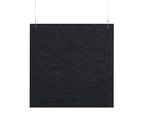 "SoundSorb Hanging Acoustic Baffles 24"" x 24"" Black High Density Polyester"