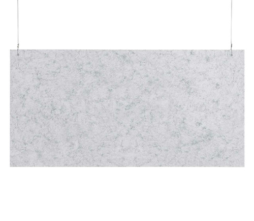 """SoundSorb Hanging Acoustic Baffles 48"""" x 24"""" Marble Gray High Density Polyester"""