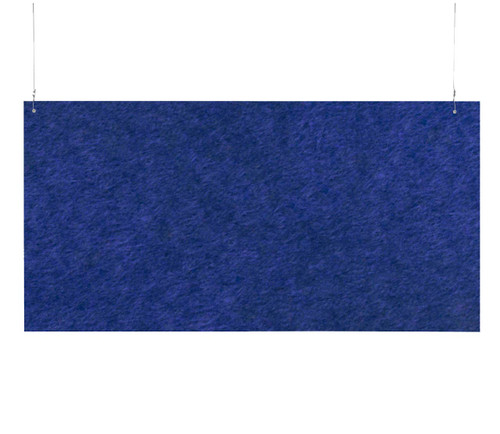 "SoundSorb Hanging Acoustic Baffles 48"" x 24"" Blue High Density Polyester"