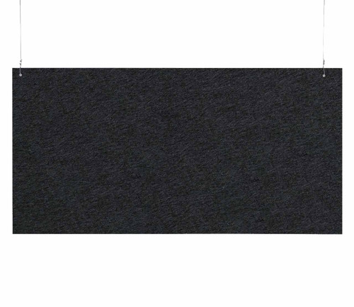 "SoundSorb Hanging Acoustic Baffles 48"" x 24"" Black High Density Polyester"