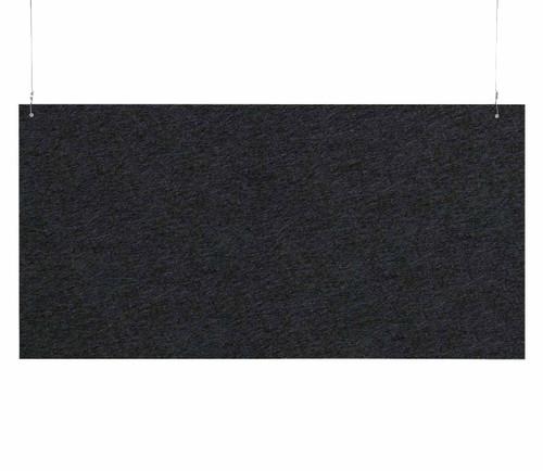 """SoundSorb Hanging Acoustic Baffles 48"""" x 24"""" Black High Density Polyester"""