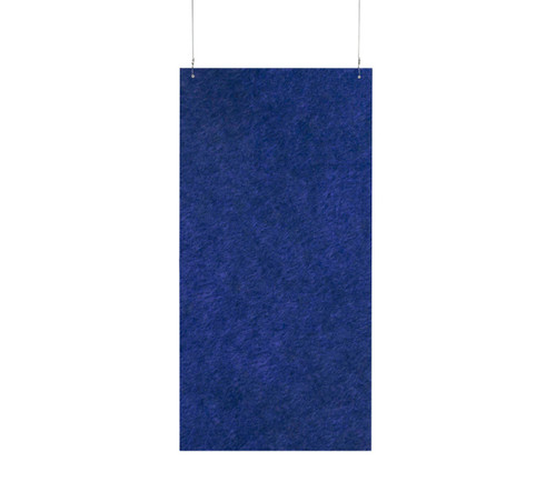 "SoundSorb Hanging Acoustic Baffles 24"" x 48"" Blue High Density Polyester"