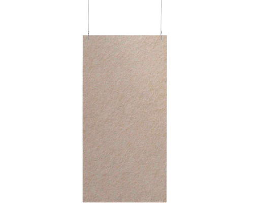 "SoundSorb Hanging Acoustic Baffles 24"" x 48"" Beige High Density Polyester"