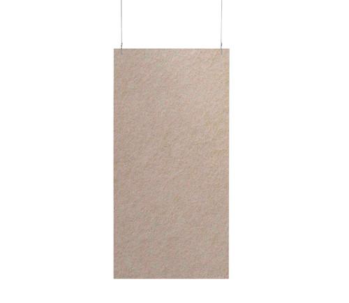 """SoundSorb Hanging Acoustic Baffles 24"""" x 48"""" Beige High Density Polyester"""