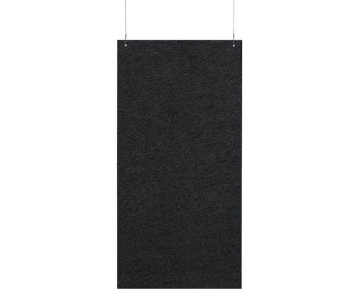 """SoundSorb Hanging Acoustic Baffles 24"""" x 48"""" Black High Density Polyester"""