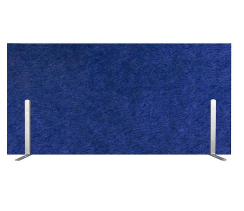 "SoundSorb Desktop Privacy Panels 24"" x 12"" Blue High Density Polyester Freestanding"