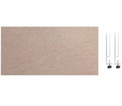 "SoundSorb Desktop Privacy Panels 24"" x 12"" Beige High Density Polyester Edge Clip"