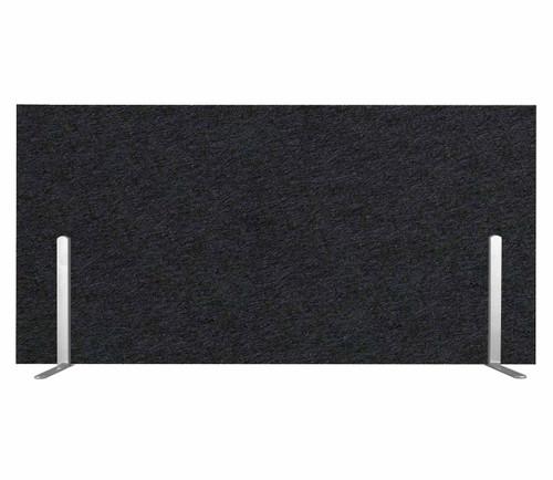 "SoundSorb Desktop Privacy Panels 24"" x 12"" Black High Density Polyester Freestanding"