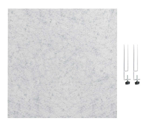 "SoundSorb Desktop Privacy Panels 24"" x 24"" Marble Gray High Density Polyester Edge Clip"