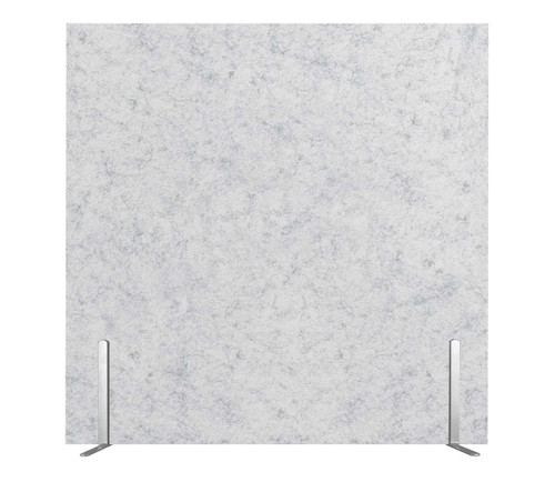 "SoundSorb Desktop Privacy Panels 24"" x 24"" Marble Gray High Density Polyester Freestanding"