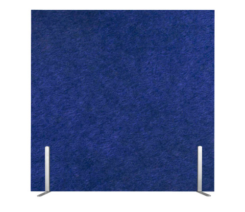 "SoundSorb Desktop Privacy Panels 24"" x 24"" Blue High Density Polyester Freestanding"