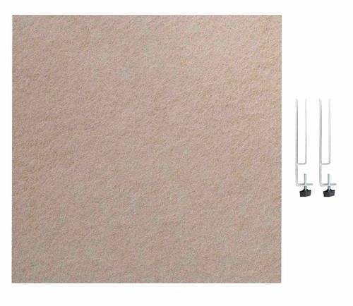"SoundSorb Desktop Privacy Panels 24"" x 24"" Beige High Density Polyester Edge Clip"