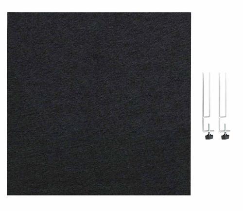 "SoundSorb Desktop Privacy Panels 24"" x 24"" Black High Density Polyester Edge Clip"