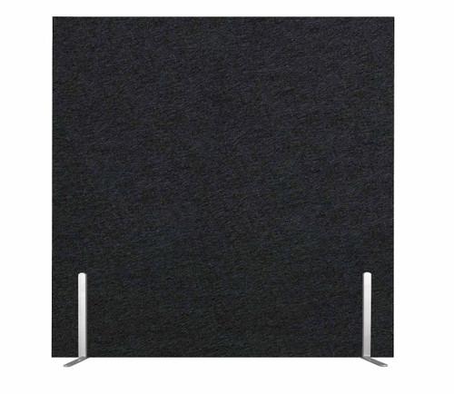 "SoundSorb Desktop Privacy Panels 24"" x 24"" Black High Density Polyester Freestanding"