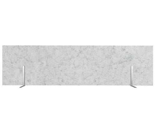 "SoundSorb Desktop Privacy Panels 48"" x 12"" Marble Gray High Density Polyester Freestanding"