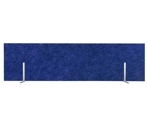 "SoundSorb Desktop Privacy Panels 48"" x 12"" Blue High Density Polyester Freestanding"