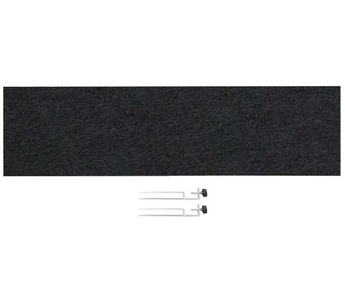 "SoundSorb Desktop Privacy Panels 48"" x 12"" Black High Density Polyester Edge Clip"