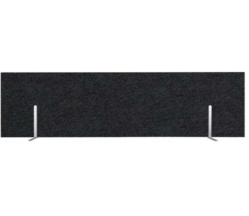 "SoundSorb Desktop Privacy Panels 48"" x 12"" Black High Density Polyester Freestanding"