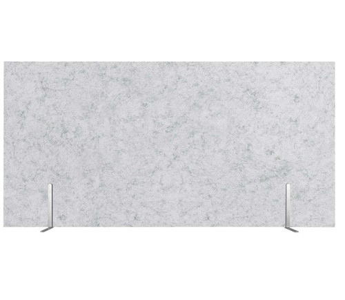 "SoundSorb Desktop Privacy Panels 48"" x 24"" Marble Gray High Density Polyester Freestanding"