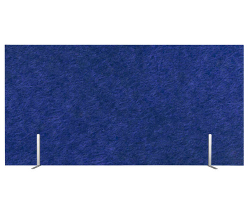 "SoundSorb Desktop Privacy Panels 48"" x 24"" Blue High Density Polyester Freestanding"