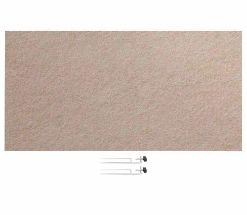 "SoundSorb Desktop Privacy Panels 48"" x 24"" Beige High Density Polyester Edge Clip"