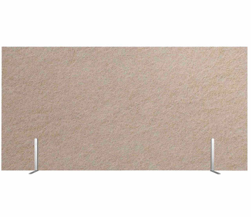 "SoundSorb Desktop Privacy Panels 48"" x 24"" Beige High Density Polyester Freestanding"